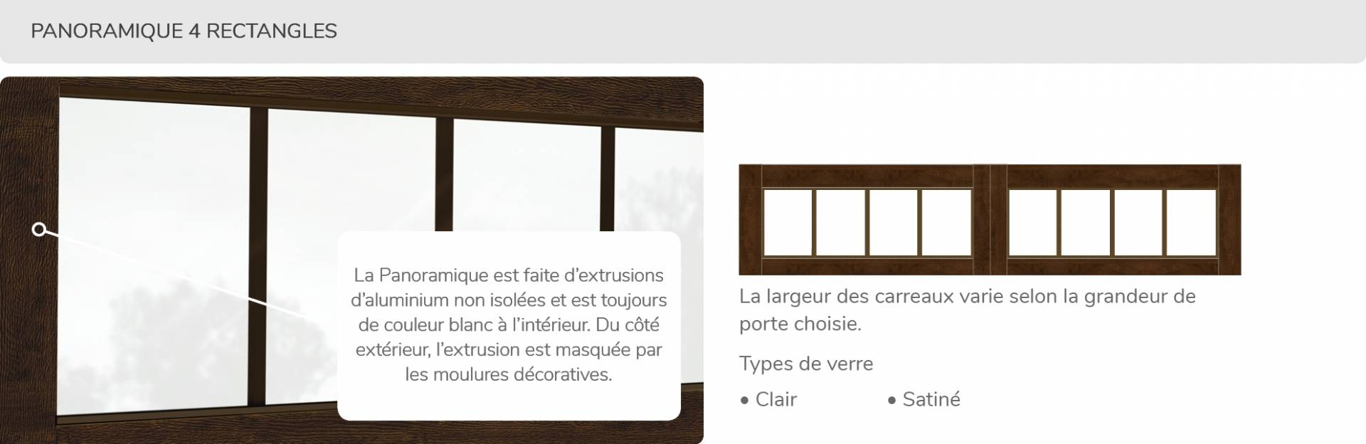 Panoramique 4 rectangles, disponible pour la porte R16